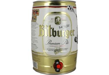 Biere Allemande Bitburger Premium Pils 5l 4,8% Fut Jetable