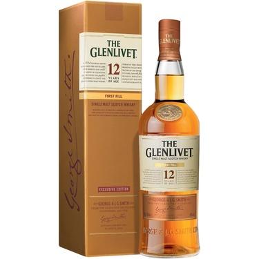 Whisky Ecosse Speyside Single Malt Glenlivet 12 Ans First Fill 40% 70cl